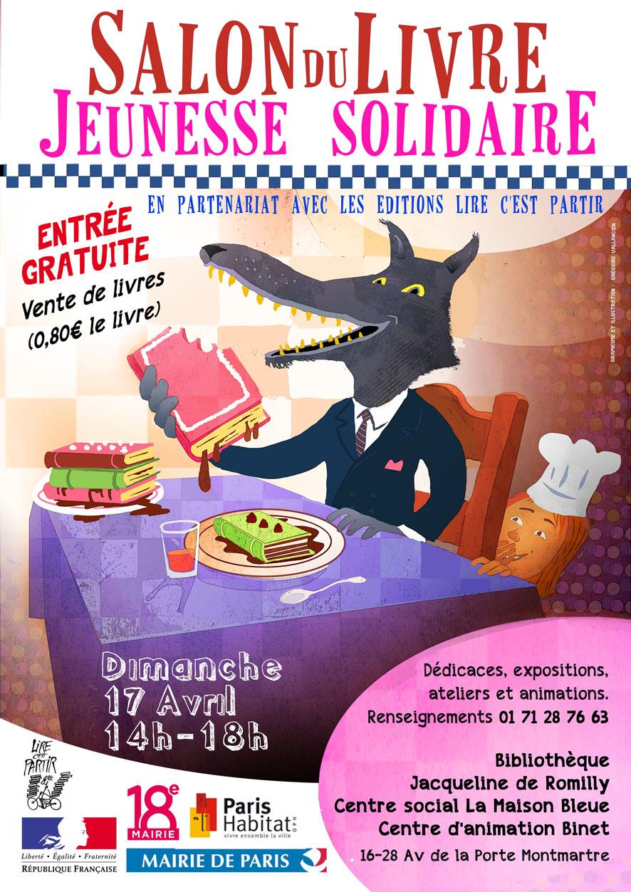 17 avril salon du livre jeunesse solidaire festival du for Salon du livre troyes